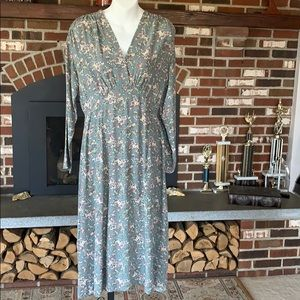 Tweeds Floral Pattern Dress